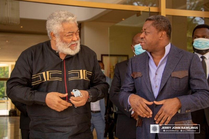 Rawlings mourns with late Edem Kodjo's family in Togo