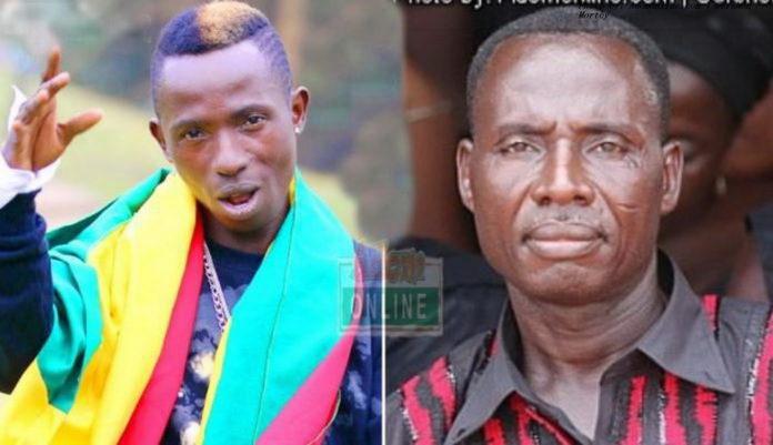 Patapaa and his father, Mr Kwesi Amoah