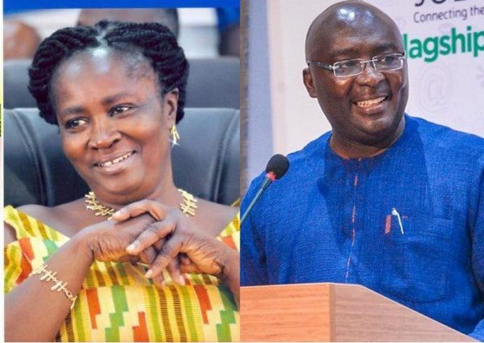 Naana Opoku-Agyemang and Bawumia