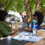 Professor Jane Naana Opoku-Agyemang registers as a voter