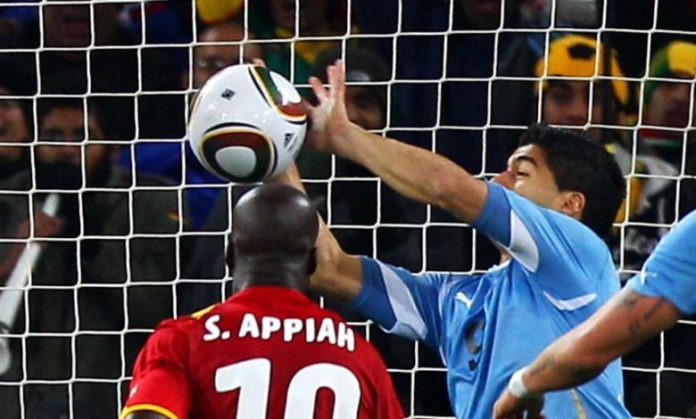 Ghana vs Uruguay during 2010 World Cup in South Africa