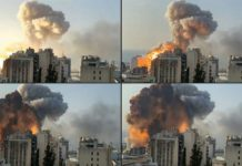 Pictures of Chaos and destruction in Beirut after blast