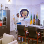 """Shatta Wale makes a call in his personal """"Shatta Movement"""" office /Photo Credit: @kwabenaawuku"""