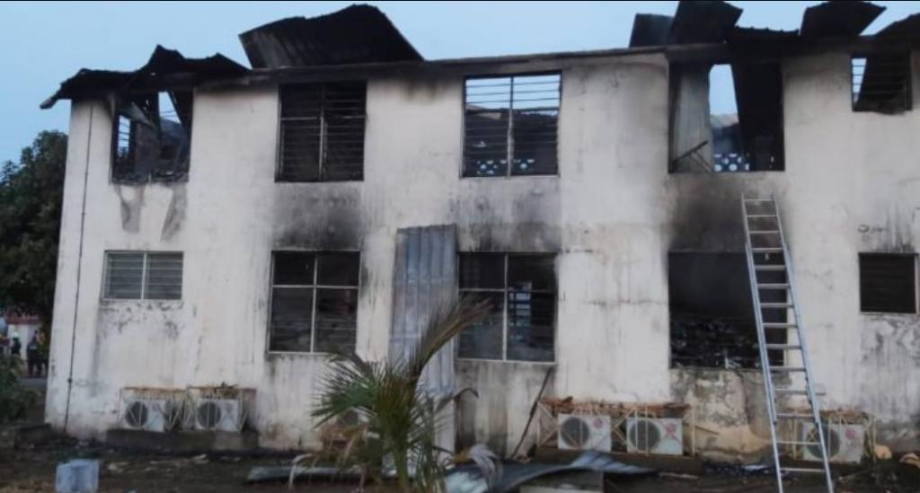 Fire guts EC's Greater Accra Regional office