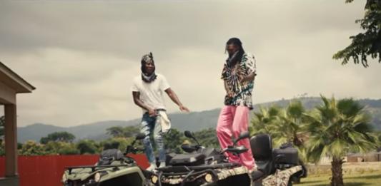 Stonebwoy and Emmanuel Adebayor in Putuu music video