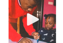 Stonebwoy and his daughter, Catherine-Jidula
