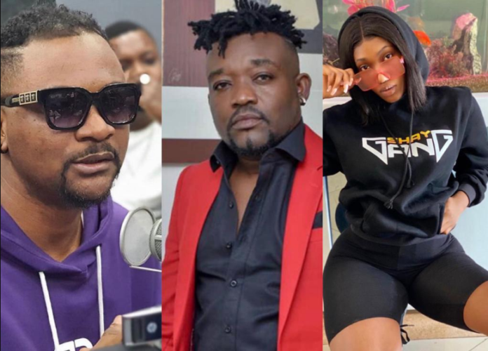 File photo: L-R: Mr Logic, Bullet and Wendy Shay