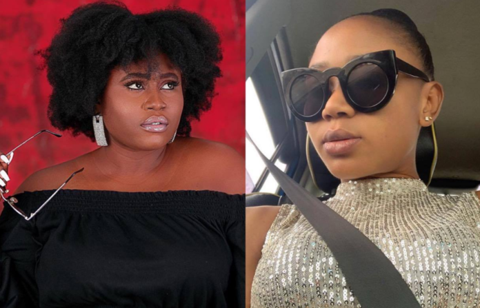 L-R: Lydia Forson and Akuapem Poloo