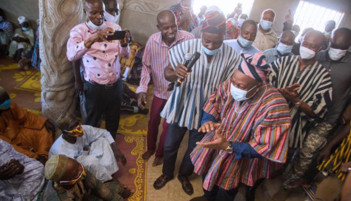 President Mahama visits his hometown, Bole