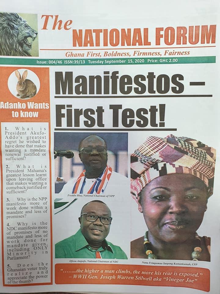 Newspaper headlines of Tuesday, September 15, 2020 53