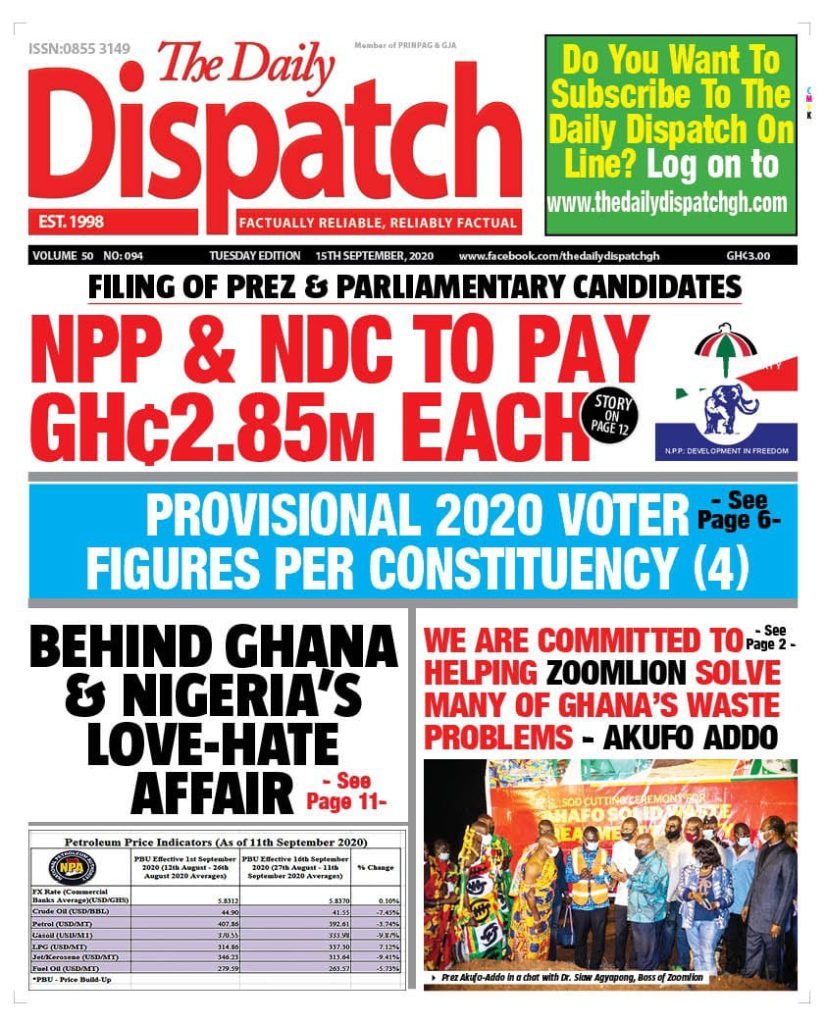 Newspaper headlines of Tuesday, September 15, 2020 50
