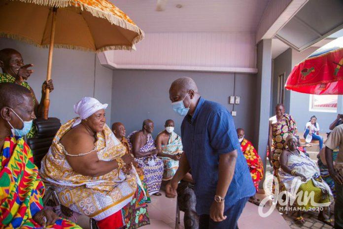 Paramount Queenmother of the Berekum Traditional Area, Nana Akosua Ameyaahene and Mahama