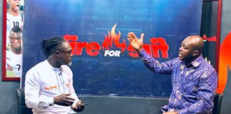 Sports Minister with Adom TV's Countryman Songo