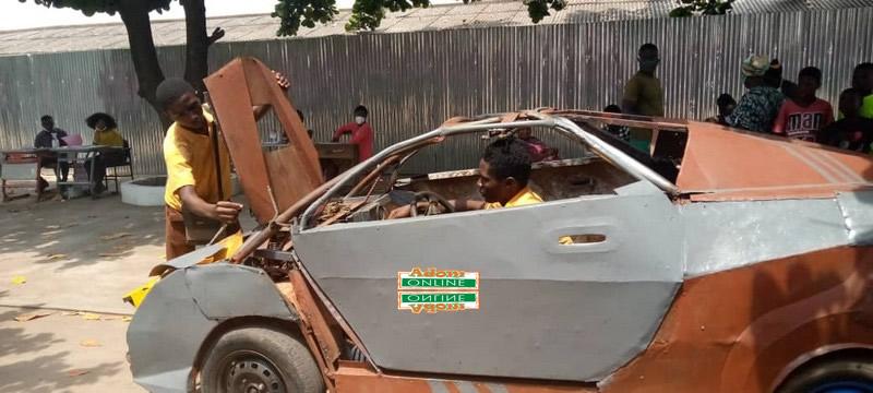 BECE candidate builds scrap metal car
