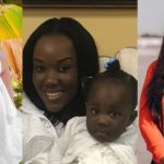 Stonebwoy's wife and daughter
