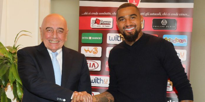 Kevin Prince Boateng with AC Monza owner