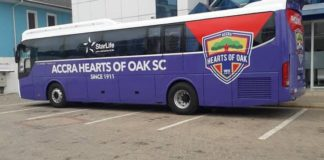 Hearts of Oak team bus