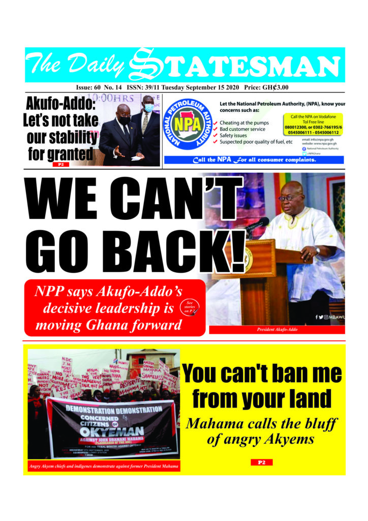 Newspaper headlines of Tuesday, September 15, 2020 51