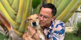 Gregory Andrews and his dog, Kofi