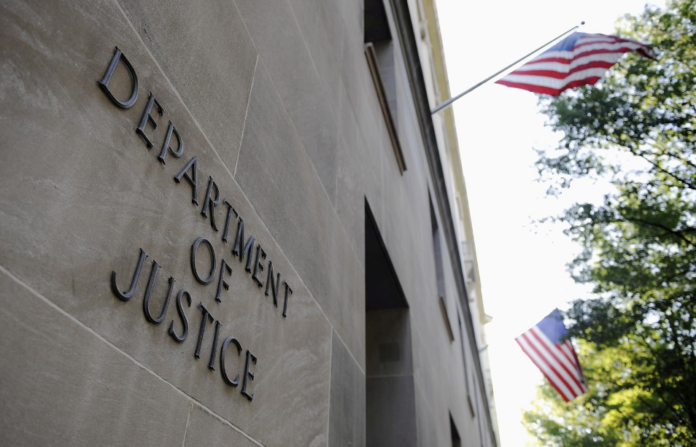 The exterior of the U.S. Department of Justice headquarters building in Washington. Photo by Jonathan Ernst