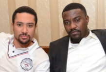 L-R: Majid Michel and John Dumelo