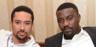 L-R: Majid Michel and John Dumelo