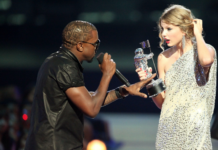 Kanye West and Taylor Swift at 2009 VMAs