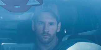 Lionel Messi arrives at Barcelona training grounds