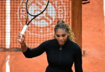 Serena Williams beat compatriot Kristie Ahn in the first round on Monday