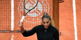 Serena Williams beat compatriot Kristie Ahn in the first round on Monday