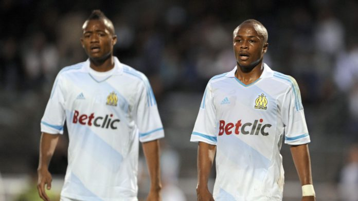Jordan Ayew and Andre Ayew both played for Olympique Marseille before moving to England