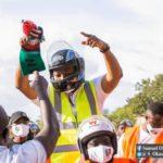 Okudzeto Ablakwa was joined by dozens of Okada riders to file his nomination