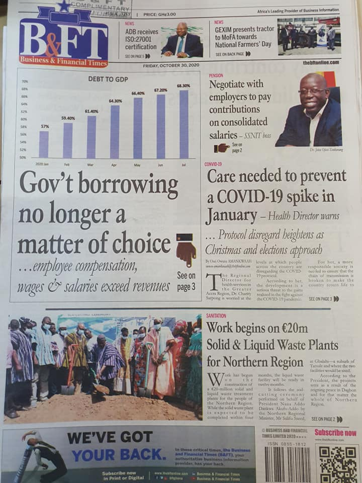 Newspaper Headlines: Friday, October 30, 2020 6