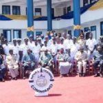 President Nana Addo Dankwa Akufo-Addo with officers of the Naval Training Command