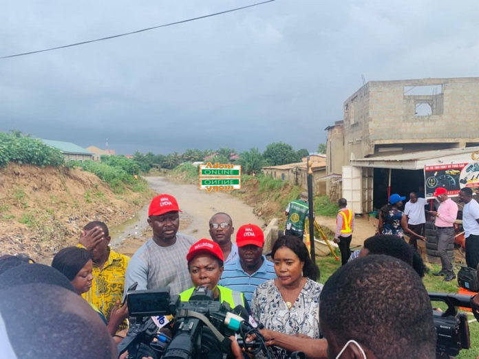 Lydia Alhassan starts construction of drainage system to end floods in her constituency