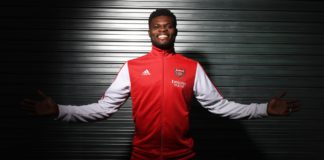 The new Arsenal signing Thomas Partey says he is relishing the challenge with the Gunners. Photograph: Stuart MacFarlane/Arsenal FC/Getty Images