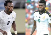 Michael Essien and Thomas Partey