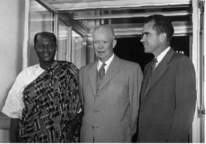 U.S. President Dwight Eisenhower apologized to Gbedemah (first from left)