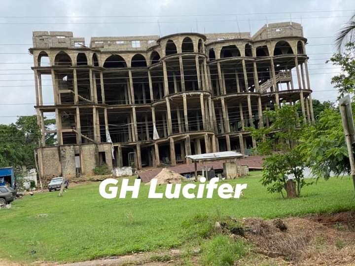 Church building collapse at Akyem Batabi