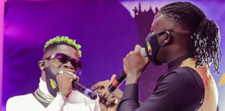 Shatta Wale and Stonebwoy during Asaase Sound Clash | Photo taken by Rob Photography