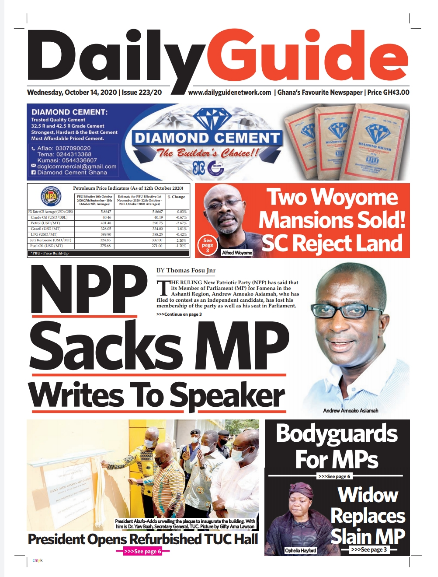 Newspaper headlines of Wednesday, October 14, 2020 7