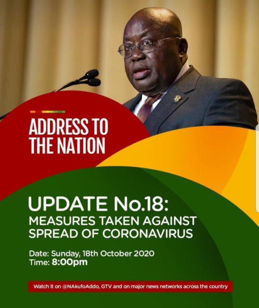 Akufo-Addo to address the nation tonight 1