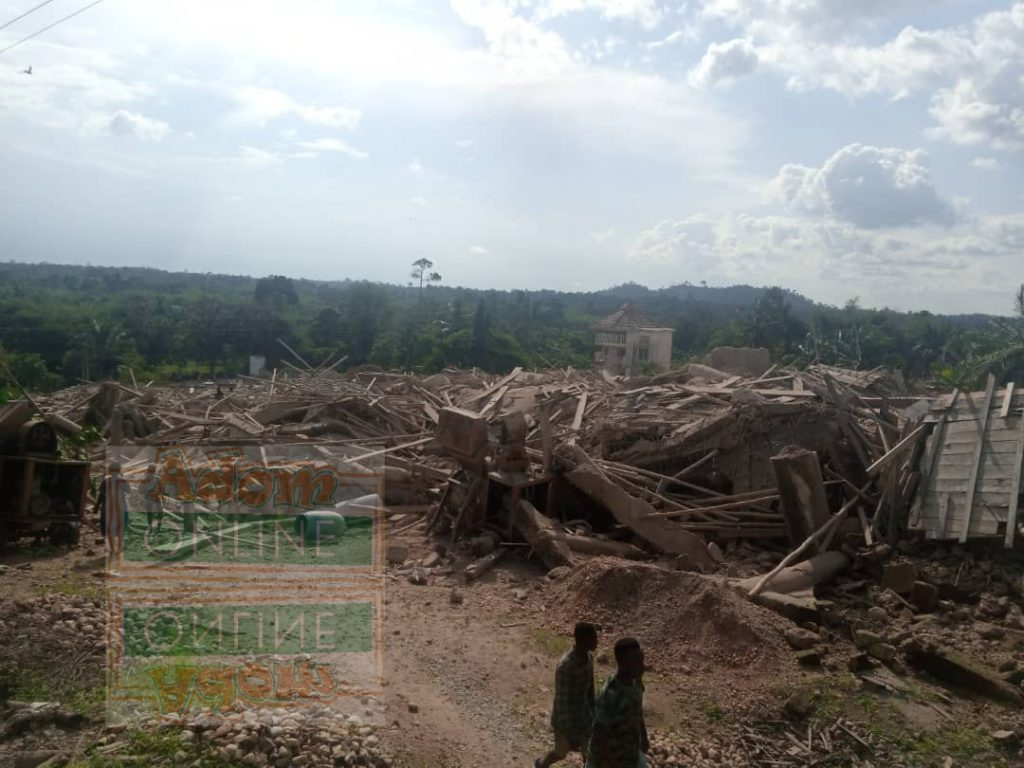 Church building collapse in Akyem Batabi