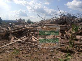 Church building collapse in Akyem Batabi