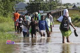 Photos: Peace Town in Ngleshie, Amanfro others cut off by heavy downpour - MyJoyOnline.com