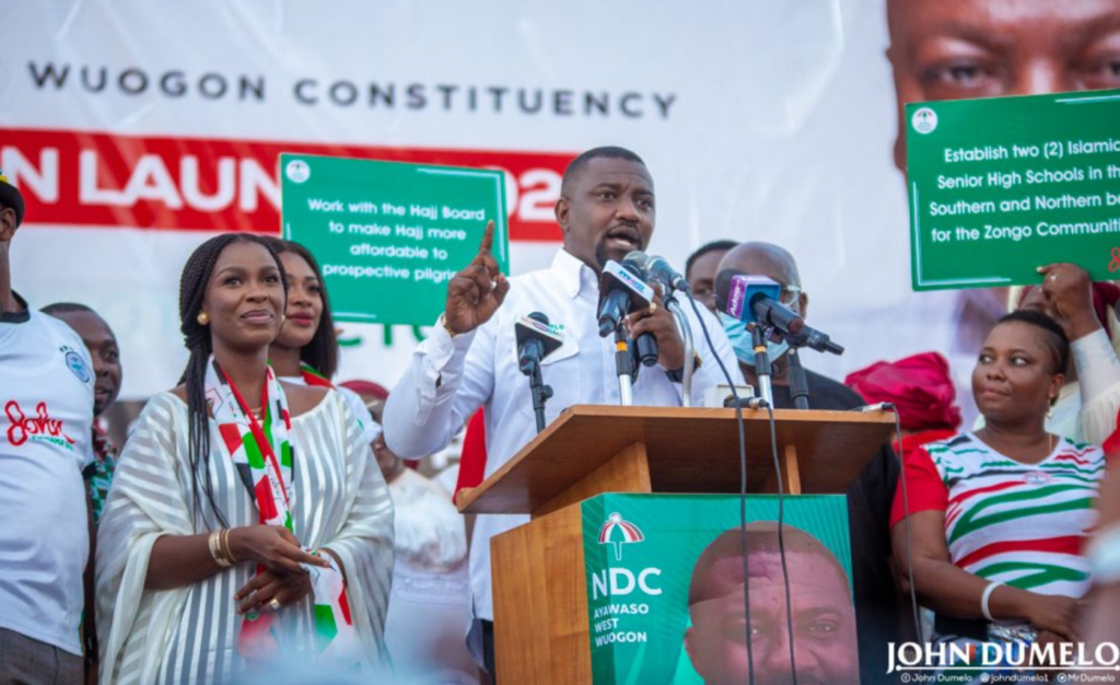 John Dumelo lays out his plans for the constituency during campaign launch