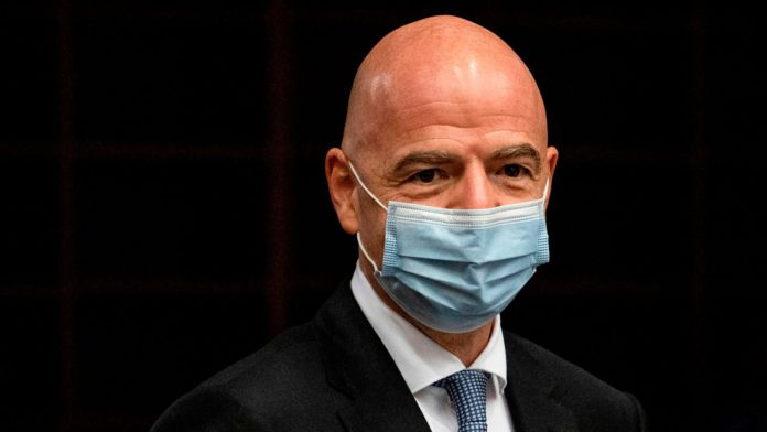 FIFA president Gianni Infantino has mild symptoms and is self-isolating