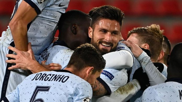 Olivier Giroud scored a late winner for Chelsea Image credit: Getty Images