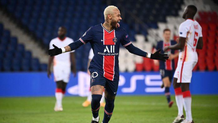 Paris Saint-Germain's Brazilian forward Neymar celebrates Image credit: Getty Images