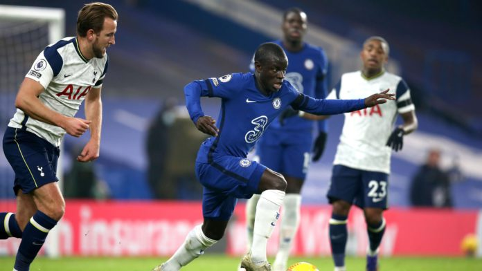 N'Golo Kante of Chelsea during the Premier League match between Chelsea and Tottenham Hotspur at Stamford Bridge on November 29, 2020 in London, United Kingdom Image credit: Getty Images